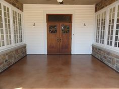 Give your patio the classic look of Stained Concrete in Las Vegas, Nevada. Stained Concrete, Concrete Floors, Concrete Staining, Water Based Stain, Las Vegas, Living Spaces, Patio, Flooring, Classic