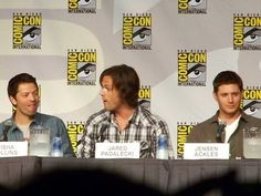 Misha: HERP    Jared: DERP    Jensen: FLAWLESS BLUE STEEL