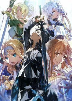 Sword Art Online Poster, Sword Art Online Wallpaper, Sao Anime, Otaku Anime, Wallpaper Animes, Animes Wallpapers, Kunst Online, Online Art, Online Anime