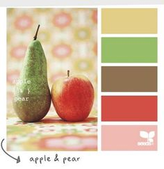 Apple & Pear Color Scheme - would actually be very pretty on a beach