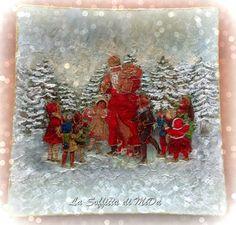 Piatto di Natale con Babbo Natale