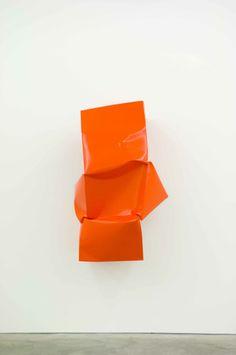 ANGELA DE LA CRUZ  Compressed (Orange), 2011  Oil on alumnium  130 x 80 x 60 cm