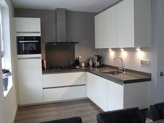 Pictures of Kitchens - Modern - White Kitchen Cabinets (Page Grey Kitchen Walls, White Kitchen Cabinets, Living Room Kitchen, Kitchen Flooring, Gray Walls, Rustic Kitchen, New Kitchen, Best Kitchen Layout, Kitchen Planner