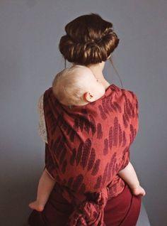 Sling Studio Falling Feathers Juniper Wrap (bourette silk ) - About Wrap | Reviews, FSOT