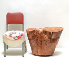 Tree Stump Table Salvage End Furniture Living by realwoodworks1, $778.00