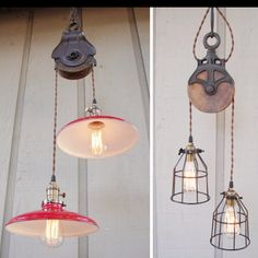awesome pulley pendant lights