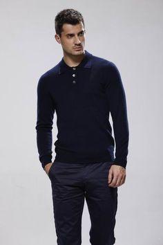 Men's Cashmere Longsleeve Polo Tshirt  Made to by DanielandLade, £199.00
