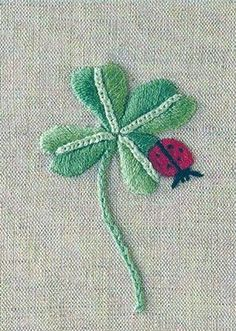 I need to make something like this!  Love my four leaf clovers!