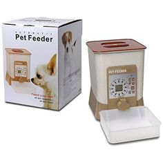 Pet maomao Automatic Pet Feeder Voice Recorder and Timer Programmable for Dogs Cats Food Dispenser *** You can get more details by clicking on the image. (This is an affiliate link) #Cats