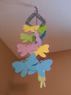 Diy butterfly decoration for girls room