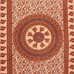 Indian Flower Tapestry View more Indian & Mandala Tapestries at http://www.shilimukh.com/product-category/tapestry-bedsheets
