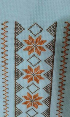 Pretty X-stitch border
