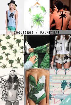 As estampas tropicais estão em alta e a de coqueiro ou palmeira é uma das preferiadas das fashionistas e celebridades.