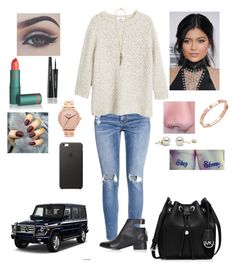 """""""Untitled #333"""" by tiffany-london-1 ❤ liked on Polyvore featuring H&M, MANGO, Topshop, Lipstick Queen, Dolce&Gabbana, MICHAEL Michael Kors, CC SKYE, Roberto Cavalli, Nixon and Mercedes-Benz"""
