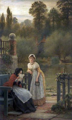 News From Abroad ~ George Dunlop Leslie (British, 1835-1921)