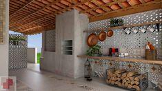 Rustic Chic Kitchen, Rustic Kitchen Design, Interior Design Kitchen, House Bali, Dirty Kitchen Design, Sweet Home, My House Plans, Outdoor Kitchen Design, Decoration