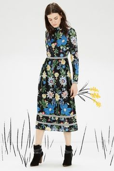 Winter floral dresses - The House That Lars Built