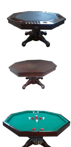 Tables 21213: 3 In 1 Slate Bumper Pool, Poker And Dining Table   54