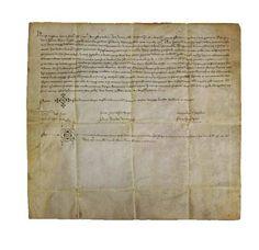 Privilegio Fira 1346 Pergamino Año 1346 Ayuntamiento de Cocentaina
