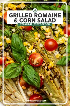 This Grilled Romaine & Charred Corn Salad packs all the smoky flavors of summer grilling into a crunchy, juicy salad. Drizzled in a herby dressing for summertime perfection! You can find this gluten and dairy free recipe here! Delicious Vegan Recipes, Vegetarian Recipes, Quinoa, Summer Corn Chowder, Summertime Salads, Grilled Romaine, Vegan Grilling, Corn Salads, Side Salad
