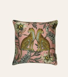 Ardmore Design- Lovebird Leopard Silk Cushion