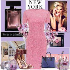 """Valentino Heavy Lace Short Sleeve Dress"" by fifi-rai on Polyvore"