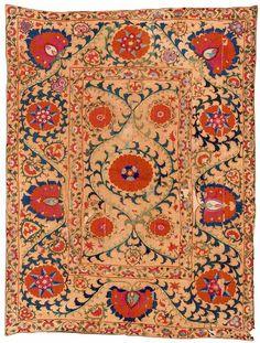 Shakhrisyabz Suzani embroidery, Uzbekistan, early 19th c.