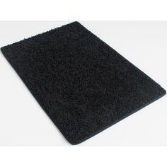 SQUARE 3'X3' Indoor Area Rug Blackest Black 37oz plush textured carpet... (981.545 IDR) ❤ liked on Polyvore featuring home, rugs, plush area rugs, black area rug, square rugs, textured area rug and plush rugs