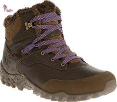 merrell fluorecein thermo waterproof chaussures de randonnee femme marron modele chaussures
