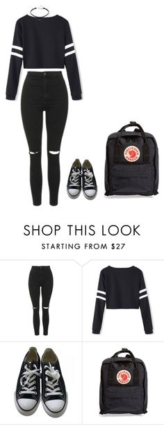 """Untitled #73"" by lihe400 on Polyvore featuring Topshop, Converse and Fjällräven"