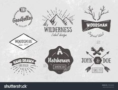 Set Of Rough Vintage Hand Drawn Labels And Design Elements Stock Vector…