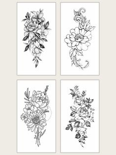 To find out about the Floral Waterproof Tattoo Sticker at SHEIN, part of our latest Tattoos ready to shop online today! Floral Thigh Tattoos, Rose Tattoos, Flower Tattoos, Flower Tattoo Drawings, Floral Shoulder Tattoos, Shoulder Sleeve Tattoos, Small Thigh Tattoos, Half Sleeve Tattoos Drawings, Mandala Thigh Tattoo