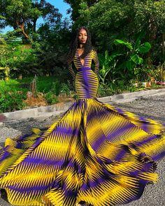 African Prom Dresses, African Wedding Dress, African Dresses For Women, African Fashion Dresses, African Outfits, African Clothes, Ankara Fashion, African Wear, African Attire