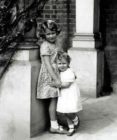 Precious!  This is my favorite childhood photo of Queen Elizabeth II and her little sister, Princess Margaret.