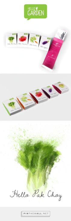 Hello Garden seeds, designed by Steph Lee. Pin curated by #SFields99 #packaging #design - created via http://pinthemall.net