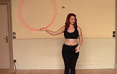 Under The Leg Hand Spin Wedgie with Lila Chupa-Hoops   hooping.org