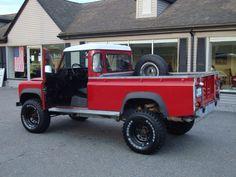 """Red #Landrover #Defender 110"""" Pickup"""