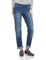 ESPRIT Damen Straight Leg Jeans mit heller Waschung