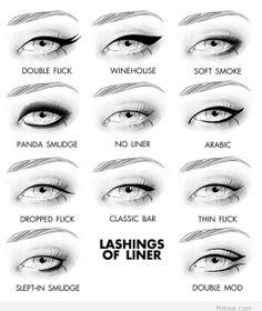 Lashings of eyeliner