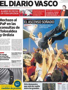 Los Titulares y Portadas de Noticias Destacadas Españolas del 1 de Julio de 2013 del Diario Vasco ¿Que le parecio esta Portada de este Diario Español?