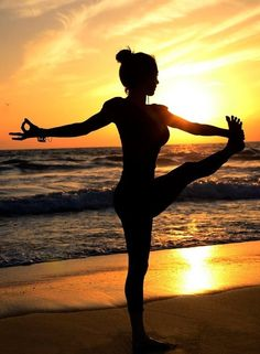 There is something magical about practicing yoga by the water #yoga