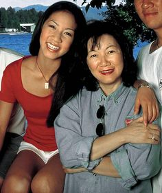 Michelle Kwan and her mother, Estella.