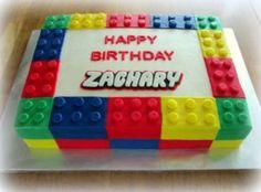 Simple Square Lego Cake Design For Kids Birthday – Cakes Design Lego Ninjago Cake, Superhero Cake, Lego Birthday Party, Boy Birthday Parties, 5th Birthday, Birthday Cakes, Birthday Ideas, Easy Lego Cake, Bolo Lego