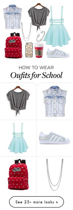 """This is not for school"" by mimikkoleva on Polyvore featuring Topshop, Vince Camuto, Bony Levy, adidas Originals, Casetify and Vans"