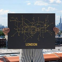 London Screen Print Gray now featured on Fab.