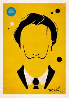 Great Modern Masters - minimalist art posters