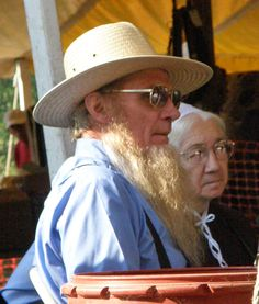 Photos of Amish Women and Couples taken at the Amish Quilt Auction, Bonduel, Wisconsin (September 2007) - Travel Photos by Galen R Frysing...