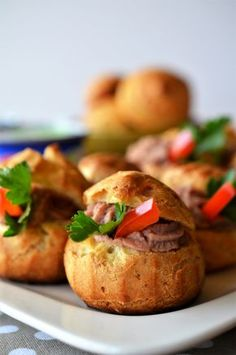 Choux cu pate de pui - Retete culinare by Teo's Kitchen New Recipes, Cooking Recipes, Baked Potato, Foodies, Food And Drink, Appetizers, Snacks, Baking, Ethnic Recipes