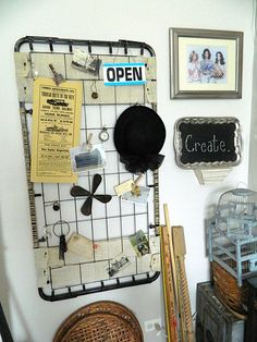 Crib box spring as bulletin board, cant wait to paint mine and hang it up!!!