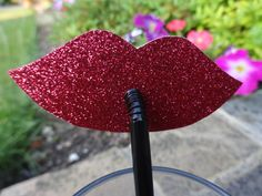 Hey, I found this really awesome Etsy listing at https://www.etsy.com/listing/196742068/glittery-pink-or-red-lip-party-straws